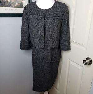 Jessica Howard Dress & Jacket Gray/white Size 16.